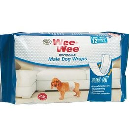Four Paws Wee-Wee Disposable Male Wraps XSmall/Small 12PK