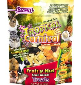 Browns Tropical Carnival Fruit & Nut Small Animal Treats 8oz