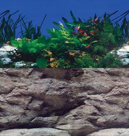 "Underwater Treasures White Stone River/Rock Wall Reversible Background - 20"""