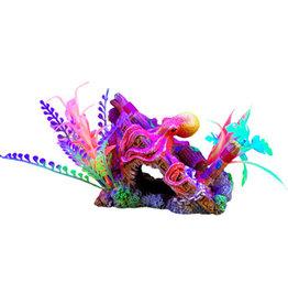 """Marina Marina iGlo Ornament - Ship's Bow with Octopus and Plants 5.5"""""""
