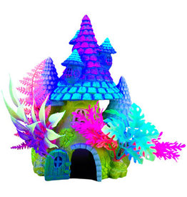 """Marina Marina iGlo Ornament - Fantasy House with Plants 8"""""""