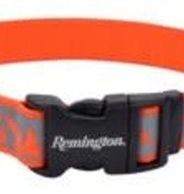 "Remington Adjustable Reflective Dog Collar Orange Deer Mountains 14-20"""