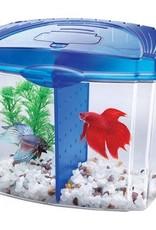Aqueon Aqueon Betta Bowl Aquarium Kit - Blue - 0.5 Gal