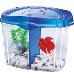Aqueon Aqueon Betta Bowl Aquarium Kit - Blue - 0.5 Gal