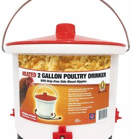 Deicer Heated Poultry Waterer 150 Watts - 2 Gallons