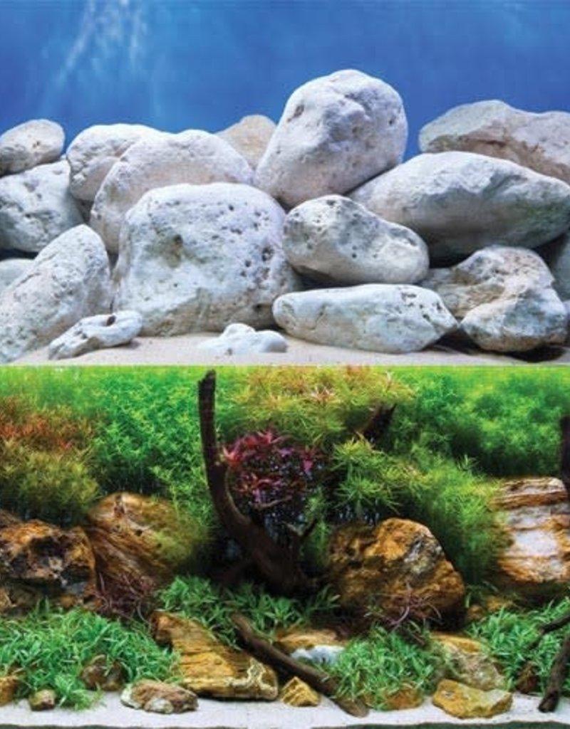 "Aquagarden/White Stone Reversible Background - 18"""