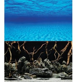 "Oceanscape/Mystic Lake Reversible Background - 18"""