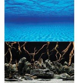 "Oceanscape/Mystic Lake Reversible Background - 24"" - Sold by the Foot Oceanscape/Mystic Lake Reversible Background - 24"""