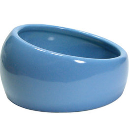 Living World Ergonomic Dish - Small - 120 mL (4.22 oz) - Blue/Ceramic