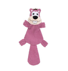 Dogit Dogit Stuffies Dog Toy – XL Flat Friend - Beaver - 49 cm (19.5 in)