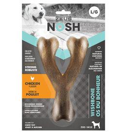 Zeus NOSH Strong Wishbone Chew Toy - Chicken Flavour - Large - 18.5 cm (7.5 in)