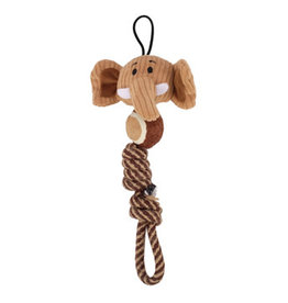Zeus Mojo Naturals Tennis Rope Tug - Elephant & Giraffe - Assorted - 23 cm (9 in)