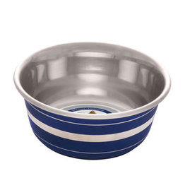 Dogit Dogit Stainless Steel Non-Skid Dog Bowl - Blue Striped - 350 ml (11.8 fl.oz.)