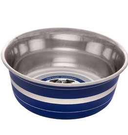 Dogit Dogit Stainless Steel Deluxe Non-Skid Bowl, Blue Stripe, 1150 ml