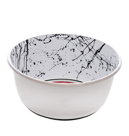 Dogit Dogit Stainless Steel Non-Skid Dog Bowl - Black & White Splash - 950 ml (32 fl.oz.)