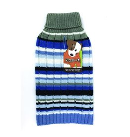 Doggie-Q Doggie-Q Blue Stripes Sweater - 8in