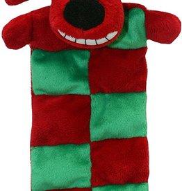 """Multipet Holiday Loofa Santa Squeaker Mat 12"""""""