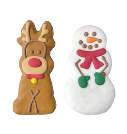 Bosco and Roxy's Cookie - Bosco and Roxy's Pre-Packaged Tall Reindeer and Snowman - 1 pc.