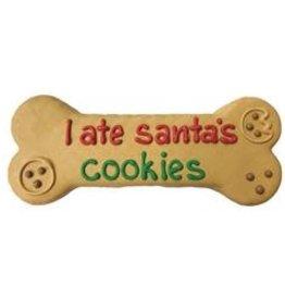 "Bosco and Roxy's Bosco and Roxy's Pre-Packaged 'I Ate Santa's Cookies' 8"" Bone"