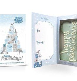 "Bosco and Roxy's Cookie - Bosco and Roxy's Pre-Packaged Happy Pawlidays 6"" Bone Card Box - 1pc."