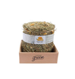 Living World Green Botanicals Meadow Hay Bale - Carrot - 500 g