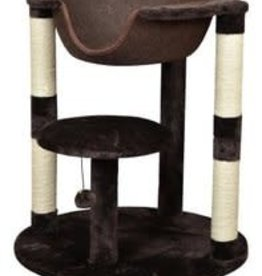 Bud'z Two Level Cat Tree with Suspended Bed Brown 66x66x73cm