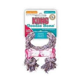 Kong Kong Puppy Goodie Bone with Rope - XSmall