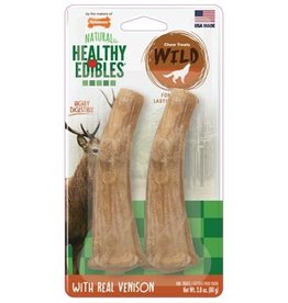Nylabone Nylabone Healthy Edibles Antler with Real Venison 2 Count - Medium
