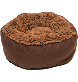 Dog Gone Smart Dog Gone Smart Dirty Dog Round Bed Brown 18 x 18""
