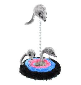 "Animal Treasures Animal Treasures Furry Spring 3 Mice Cat Toy - 9"""
