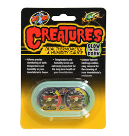 Zoo Med Zoo Med Creatures Dual Thermometer & Humidity Gauge Glow in the Dark