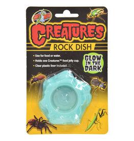 Zoo Med Zoo Med Creatures Rock Dish Glow in the Dark