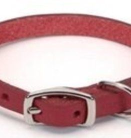 Coastal Pet Leather Oak Tanned Town Collar - Red 3/4x18