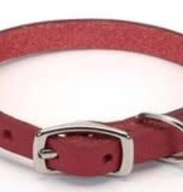Coastal Pet Leather Oak Tanned Town Collar - Red 3/8x10