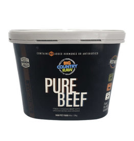 Big Country Raw Big Country Raw Pure Beef Tub - 4 lb