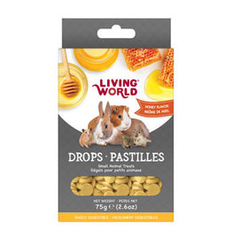 Living World Small Animal Drops Honey Flavour - 75g