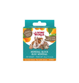 Living World Small Animal Mineral Blocks - Orange Flavour - 40 g