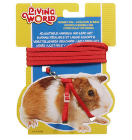 Living World Figure 8 Harness and Lead Set For Guinea Pigs - Red