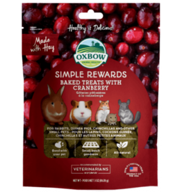 oxbow Oxbow Simple Rewards Baked Treats with Cranberry 2oz