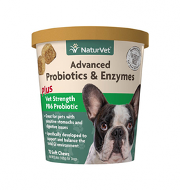 NaturVet Naturvet Advanced Probiotics & Enzymes Soft Chew 70ct