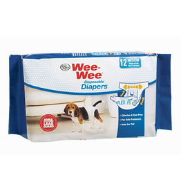 Four Paws Wee-Wee Diapers Medium 12pck Wrap