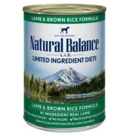 Natural Balance Natural Balance L.I.D. Grain Free Lamb & Brown Rice Canned Dog Formula 13oz