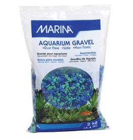 Marina Marina Decorative Coloured Aquarium Gravel - Tri-Colour Blue - 2 kg (4.4 lb)