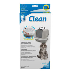 Catit Catit Clean Liners for Jumbo Cat Pan - 10 pack - Unscented
