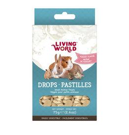 Living World Small Animal Drops Yogurt - 75g