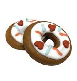 Bosco and Roxy's Cookie - Bosco and Roxy's Valentine's Donuts 1pc.