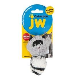 JW Cataction Plush Catnip Racoon Grey