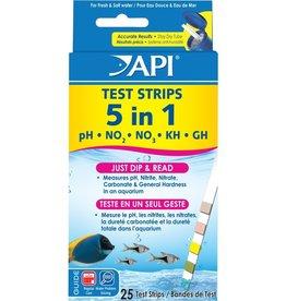 API API 5 in 1 Aquarium Test Strips - 25 pk