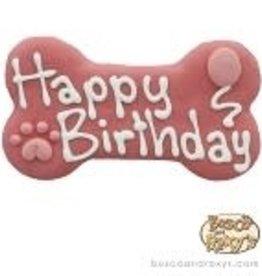 """Bosco and Roxy's Cookie - Bosco and Roxy 6"""" Happy Birthday Bone - Fushia"""
