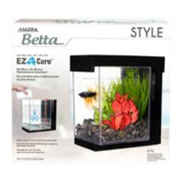 Marina Marina Betta Style Aquarium - Black - 3.7 L (1 US gal)